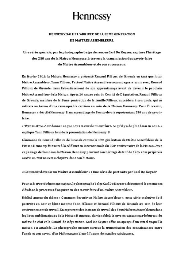 Communiqué de presse - Hennessy 8 Carl De Keyzer