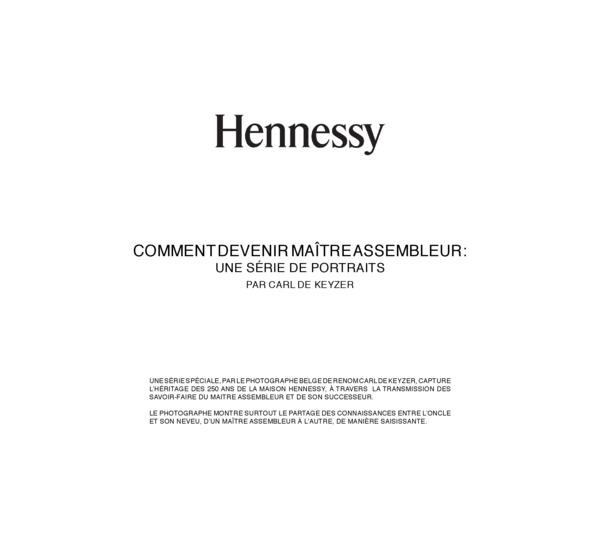 Hennessy 8 - Carl de Keyser - Une série de portraits