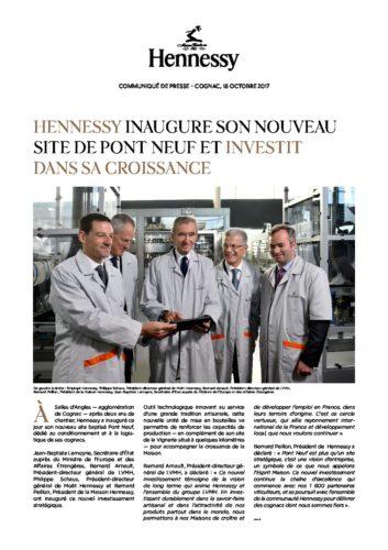 Communiqué de Presse Hennessy Inauguration Pont Neuf