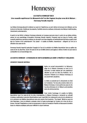 Communiqué de presse - Les Visites Hennessy