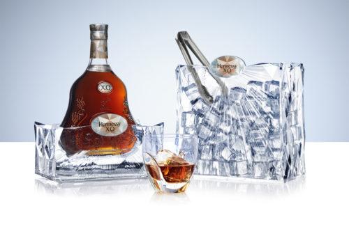 Hennessy X.O & Ice - Coffret ouvert avec verre