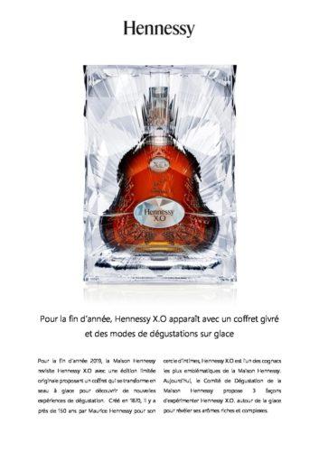 Communiqué de Presse  Hennessy X.O  Ice