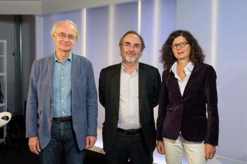 Didier Blonde, Bruno Corty et Marie Chaudey lors de la remise du prix